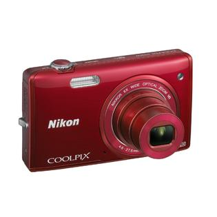 Nikon Genuine Nikon Refurbished COOLPIX S5200 16MP HD WiFi Digital Camera (Red)