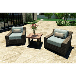 Forever Patio Bayside 3pc Patio at Set featuring Sunbrella® in Canvas Spa at Kmart.com