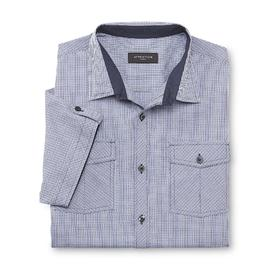 Attention Men's Button-Front Shirt - Grid at Kmart.com