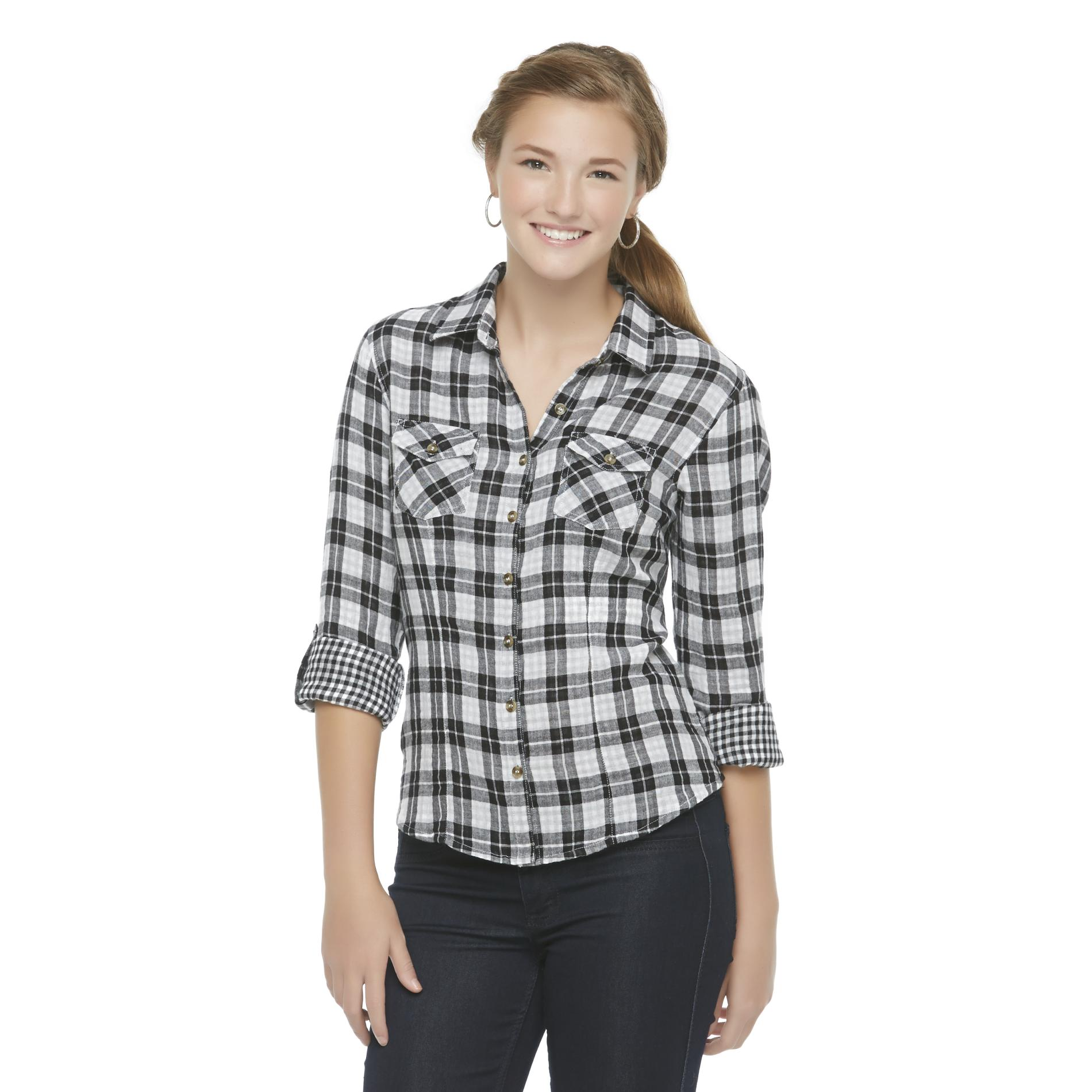 Bongo Junior's Casual Plaid Shirt at Sears.com