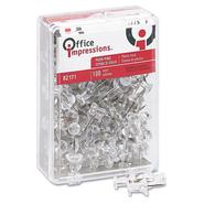 "Office Impressions Plastic Head Push Pins, 3/8"" Point, Clear, 100 at Sears.com"