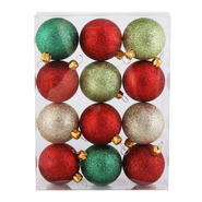 Sandra by Sandra Lee Merry Holiday Shatterproof Ornaments, 12 ct. 48 mm at Kmart.com