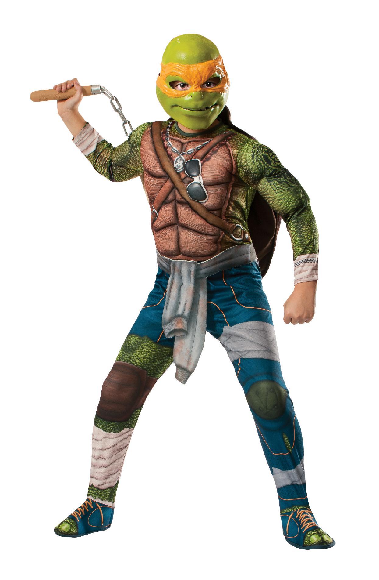 Teenage Mutant Ninja Turtles Michelangelo Deluxe Muscle Boys' Movie Version Halloween Costume PartNumber: 009VA76629712P MfgPartNumber: 888975