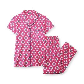 Joe Boxer Women's Short-Sleeve Knit Pajamas - Cats at Kmart.com