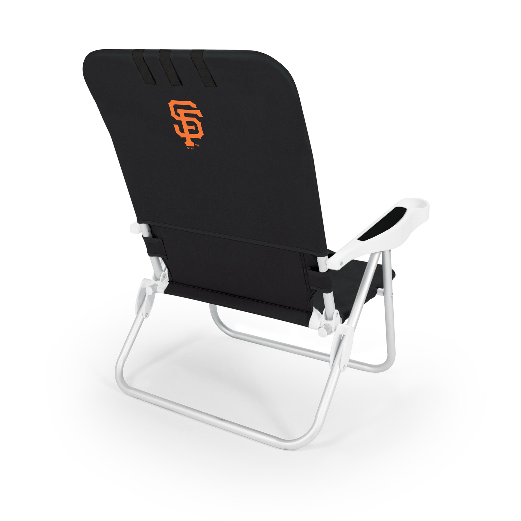 Picnic Time Monaco Beach Chair - MLB - Black