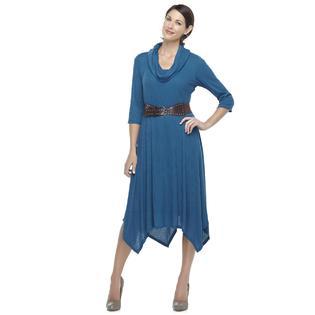 Laura Scott Women's Belted Rib Knit Dress