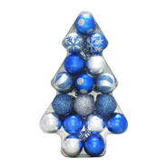 Trim A Home® Shatterproof Christmas Tree Ornaments, 34 ct, 35 mm- Blue and Silver at Sears.com
