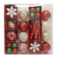 Sandra by Sandra Lee Merry Holiday Shatterproof Ornament Pack, 50 Ct at Kmart.com