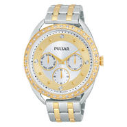 Pulsar Ladies Two-Tone Tone Brass Crystal Bezel & Dial Watch PP6180 at Sears.com