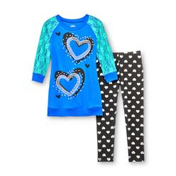Piper Girl's Embellished Tunic & Leggings - Hearts at Kmart.com