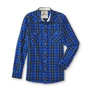 Roebuck & Co. Young Men's Long-Sleeve Woven Shirt - Plaid at Sears.com