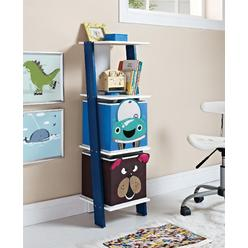 Dorel Home Furnishings White/Blue Kids Ladder Bookcase with 2 Bins at Kmart.com