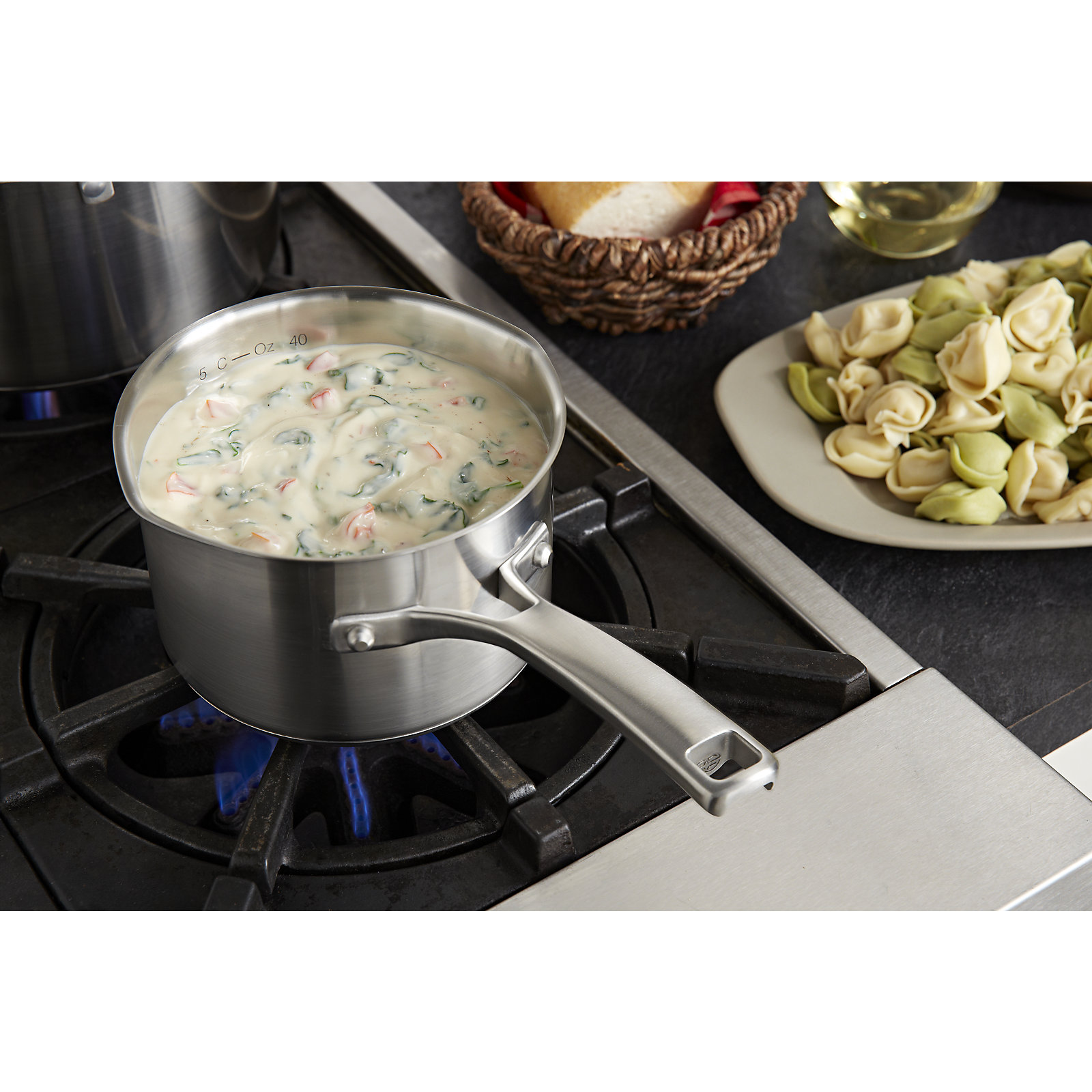 Calphalon Classic Stainless Steel 1.5-qt. Sauce Pan & Cover