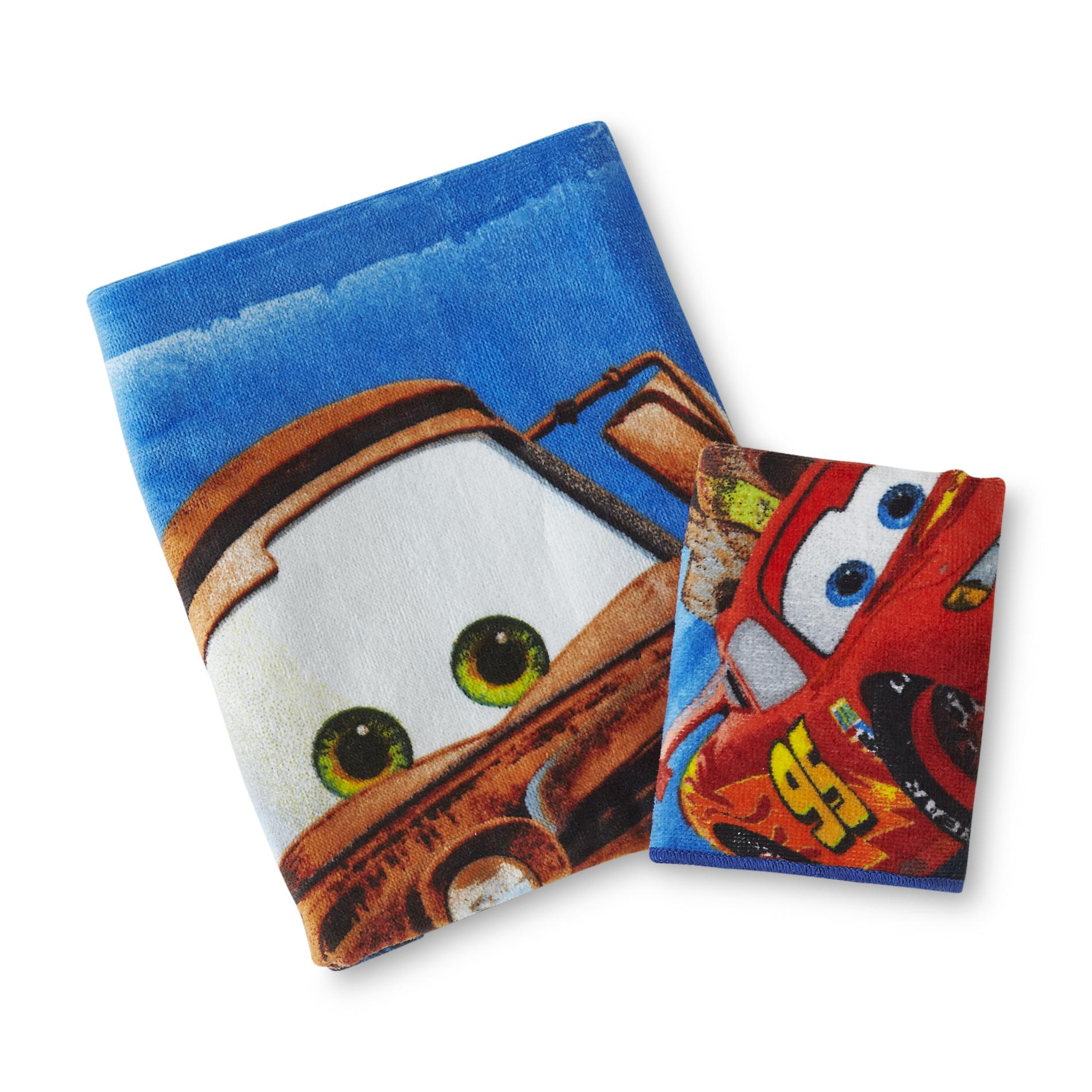 Disney Cars Boy's Bath Towel & Washcloth