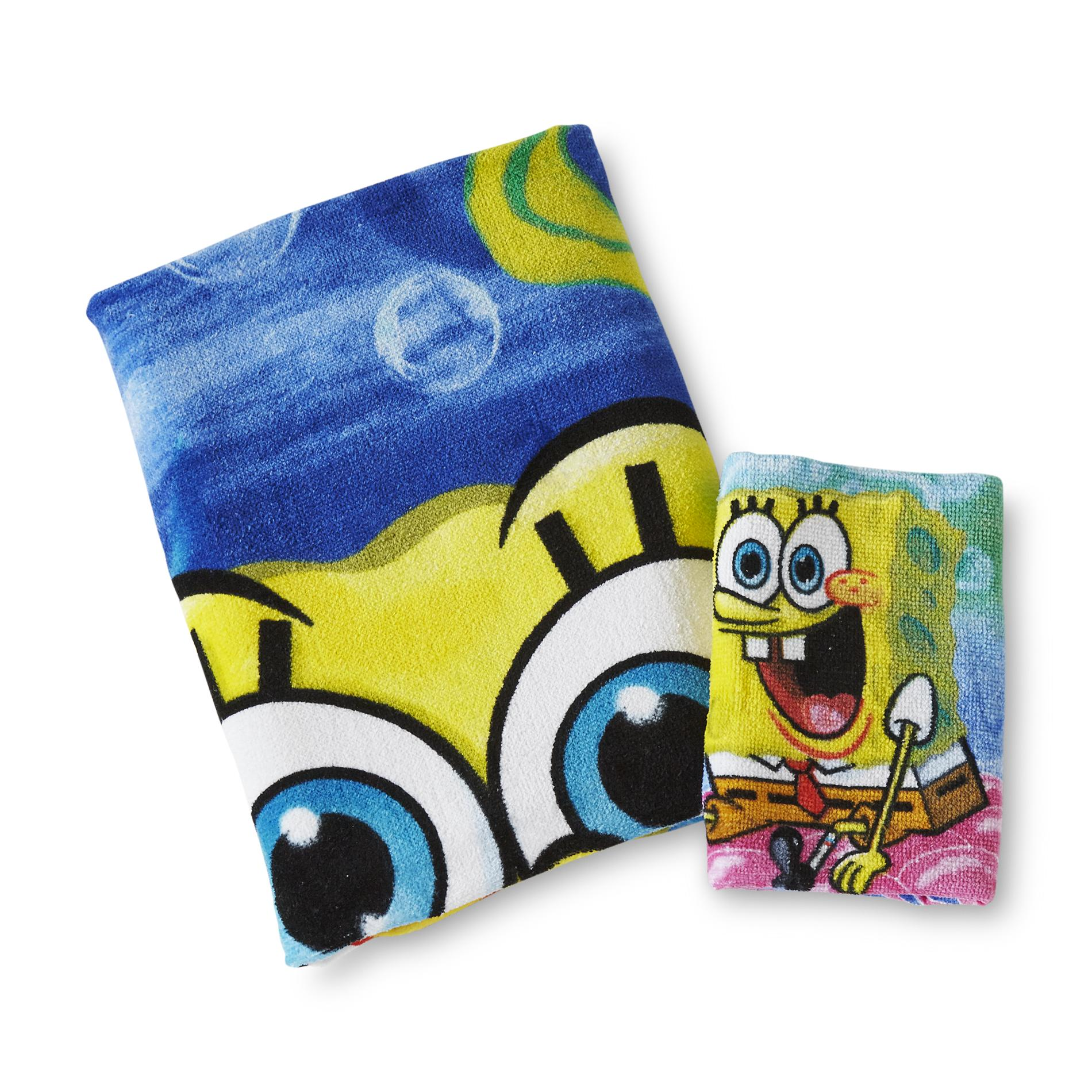 SpongeBob SquarePants Bath Towel & Washcloth