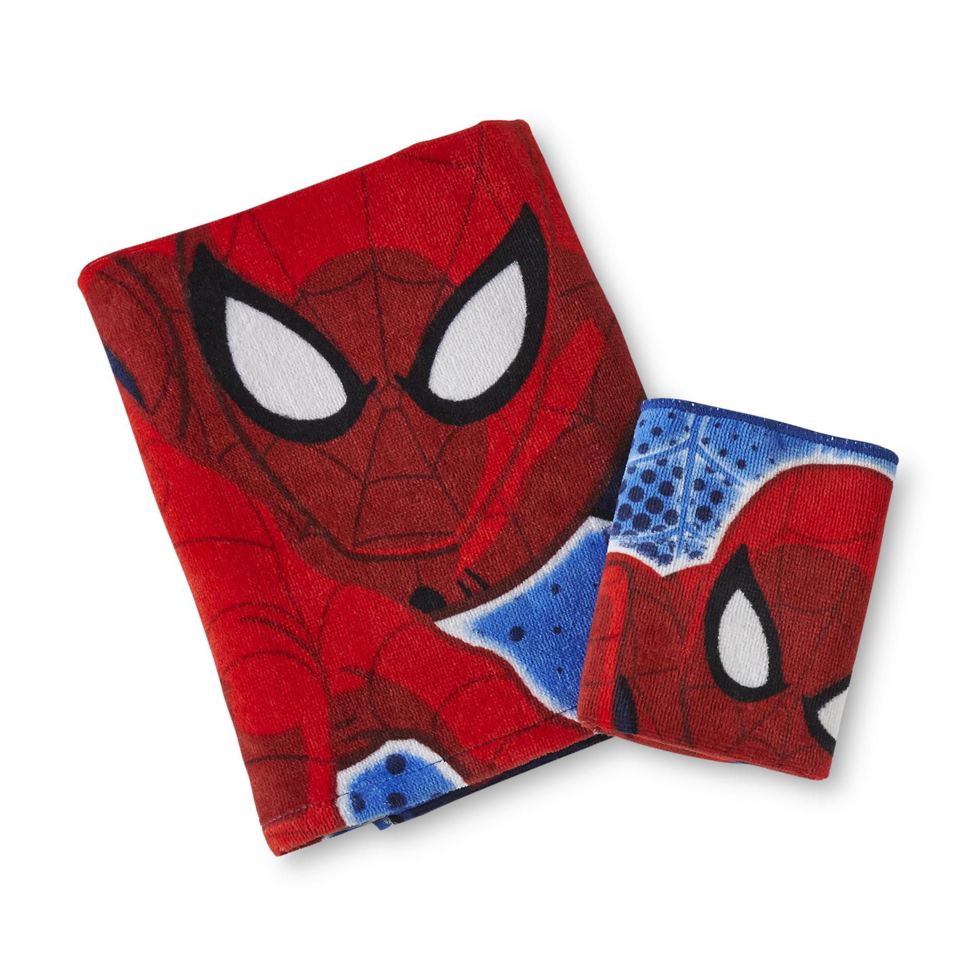 Marvel Comics Ultimate Spider-Man Boy's Bath Towel & Washcloth