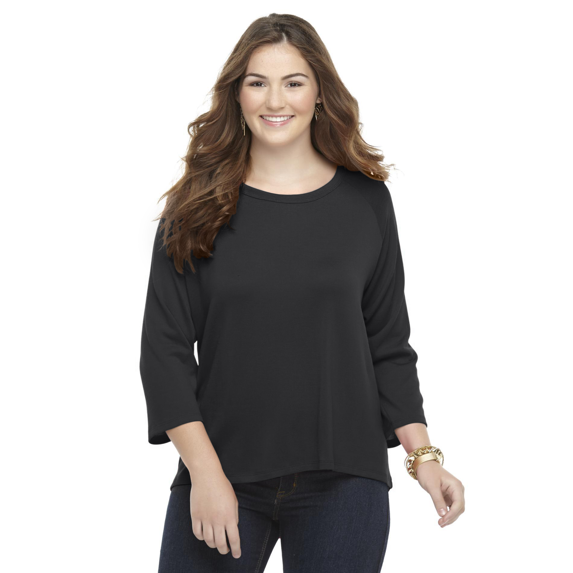 Bongo Junior's Plus High-Low Hem Knit Top at Sears.com