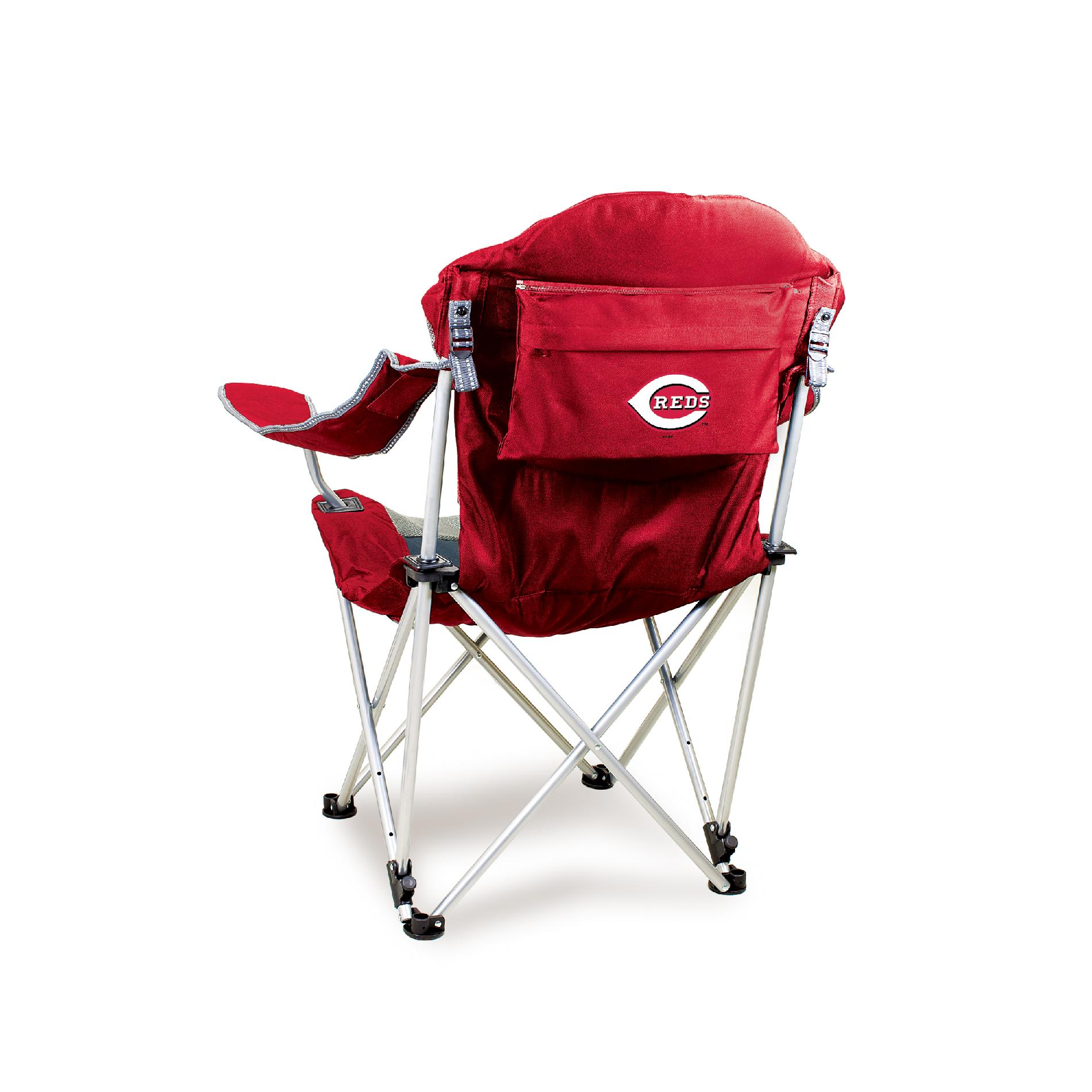 Picnic Time Reclining Camp Chair - MLB - Red