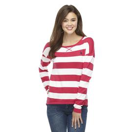 U.S. Polo Assn. Junior's Drop Shoulder Sweater - Striped at Sears.com