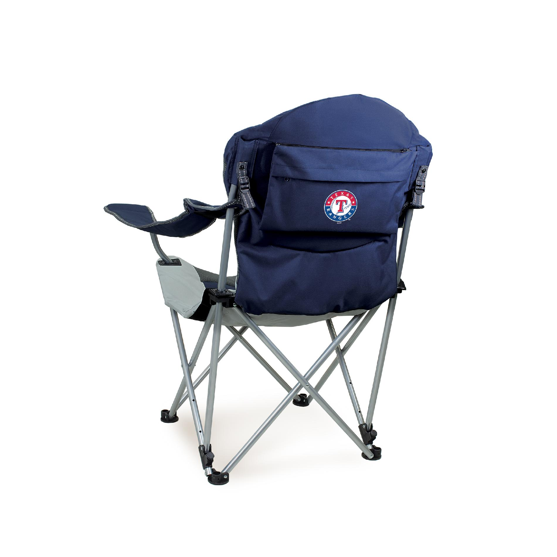 Picnic Time Reclining Camp Chair - MLB - Navy
