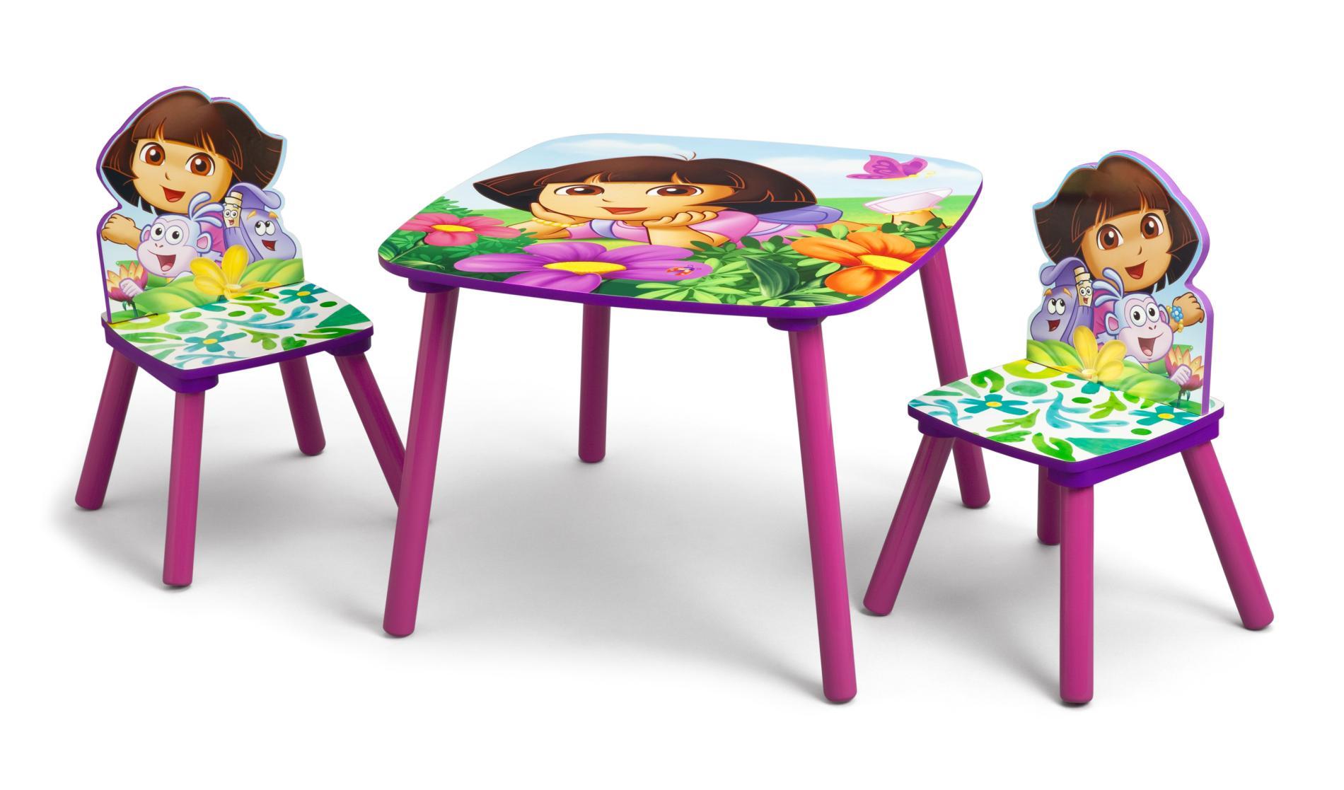 set de table dora. Black Bedroom Furniture Sets. Home Design Ideas