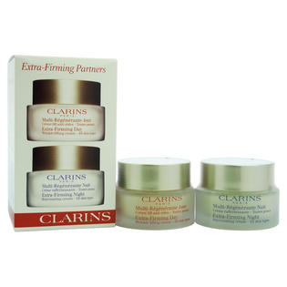 Clarins Extra Firming Partners: Day Cream 50ml + Night Cream 50ml by Clarins for Unisex - 2 pcs Set