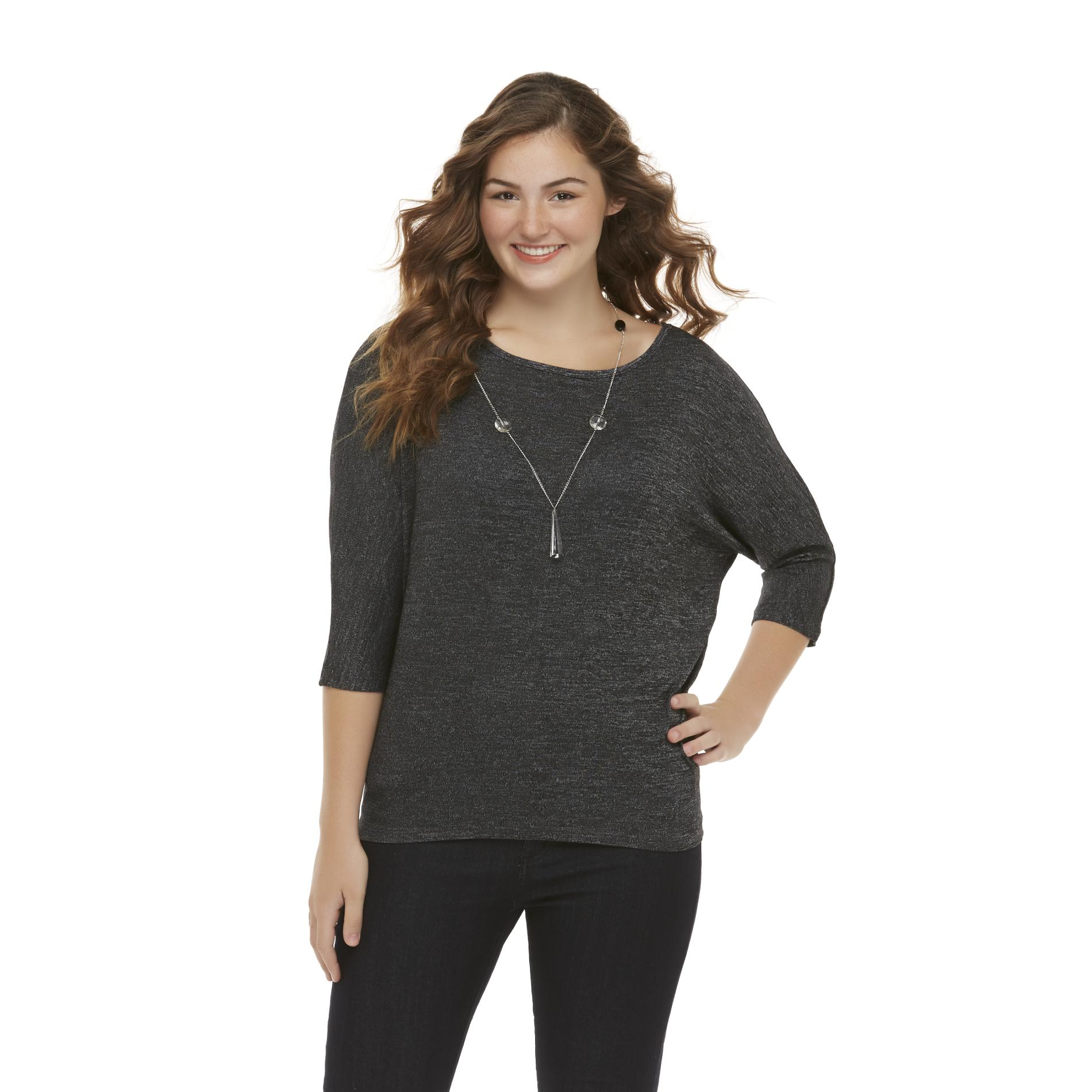 Bongo Junior's Plus Dolman Top & Necklace at Sears.com