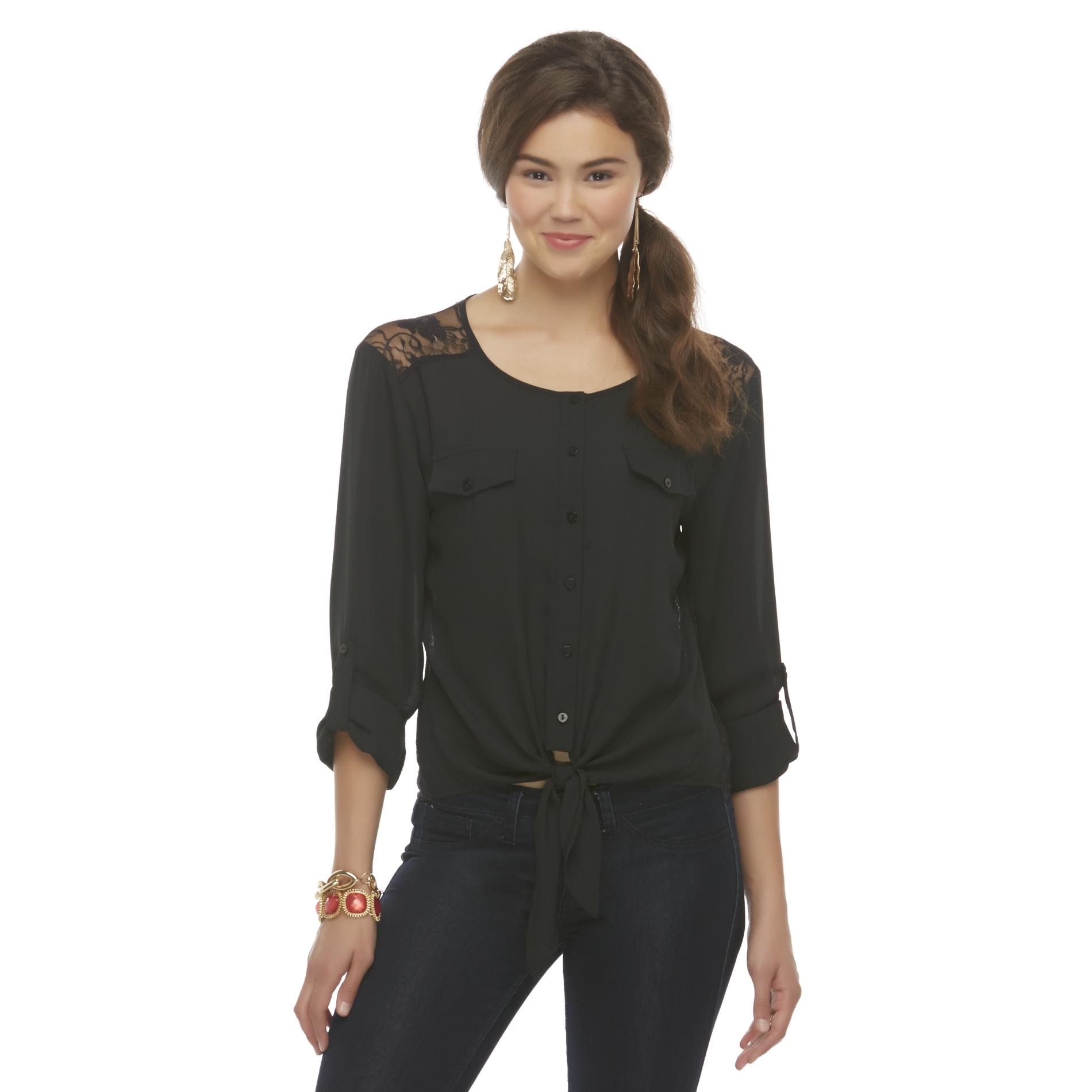 Bongo Junior's Lace-Back Crop Top at Sears.com