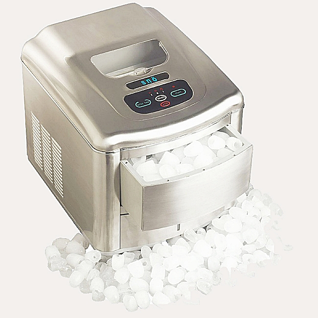 Whynter Portable Ice Maker - Stainless Steel Brushed Nickel Finish