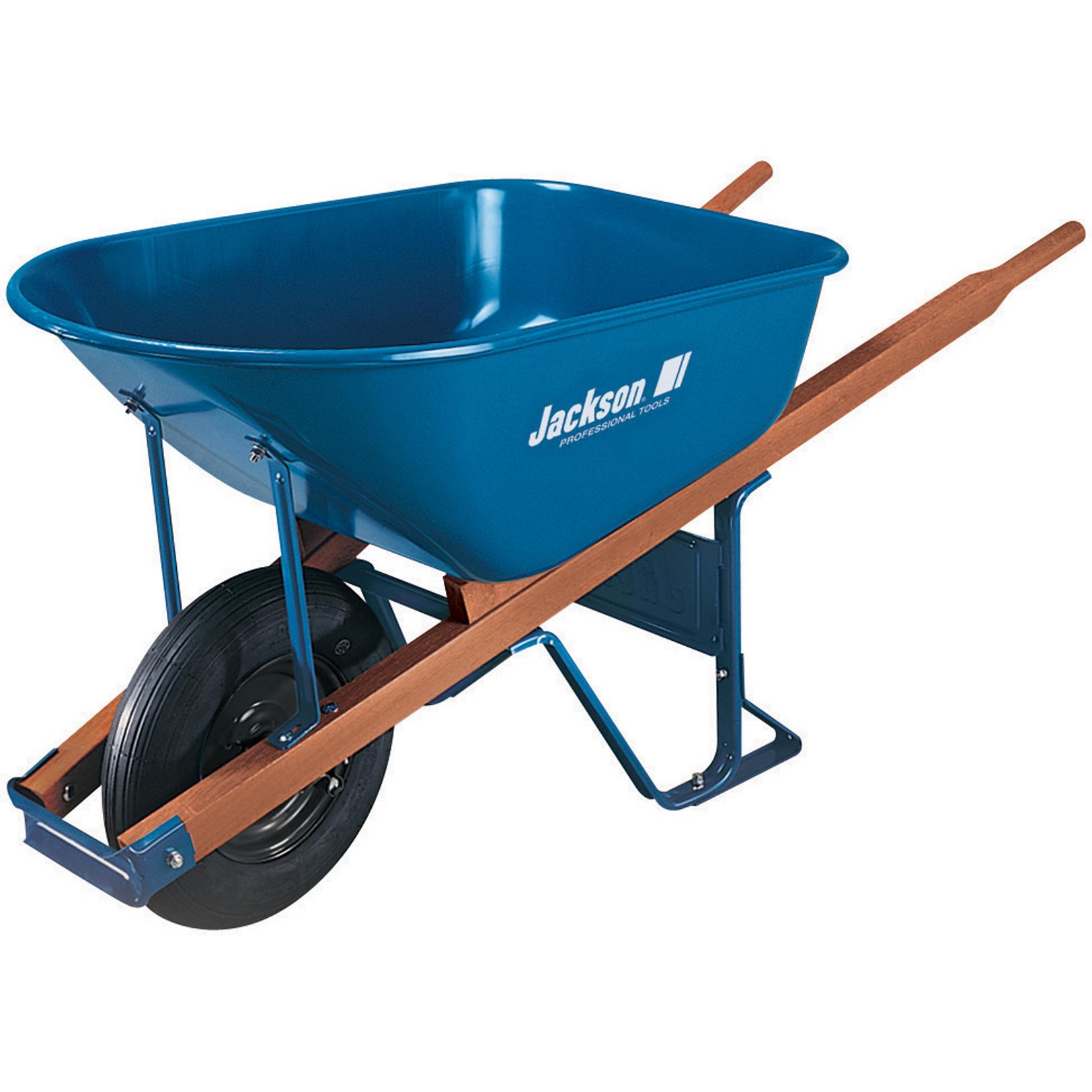 Ames Jackson 6cf Contractor Blue Steel Wheelbarrow Lawn Garden