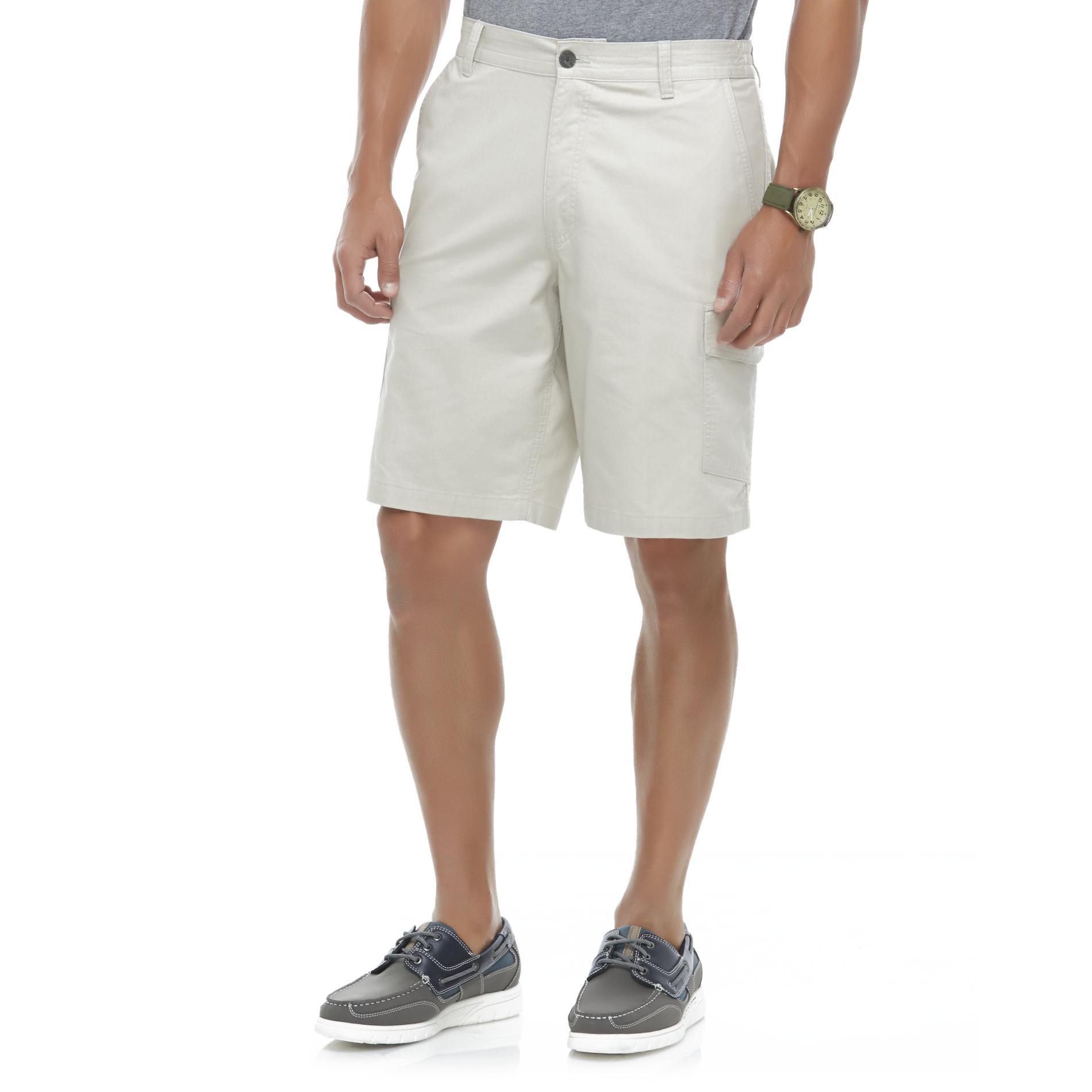 Basic Editions Men's Cargo Shorts - Herringbone