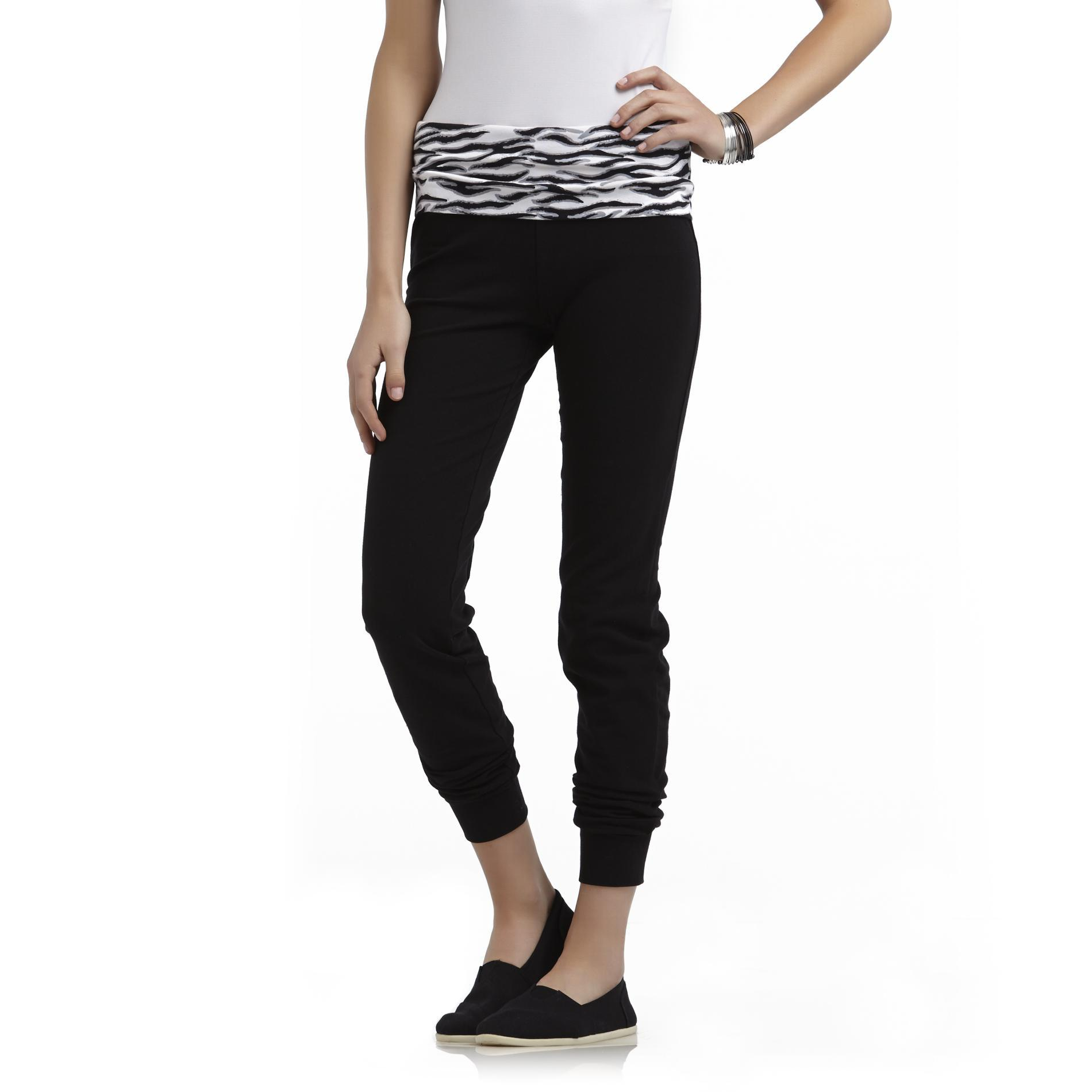 Junior's Yoga Jogging Pants - Zebra