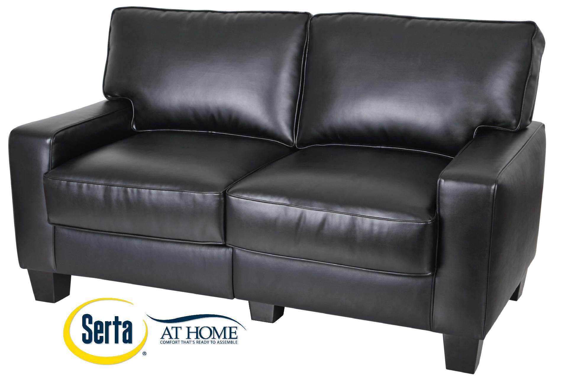 Serta at Home Santa Rosa Black Leather 60