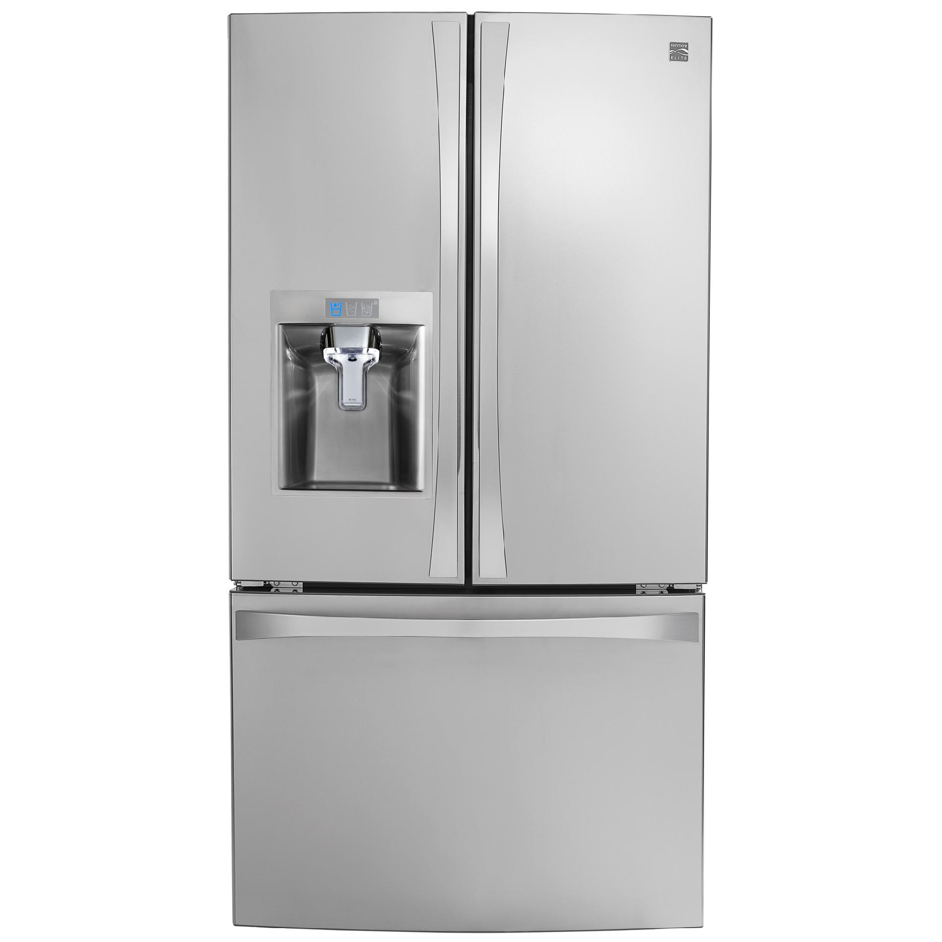 Kenmore elite 74043 23 7 cu ft french door fridge sears - Sears kitchen appliances ...