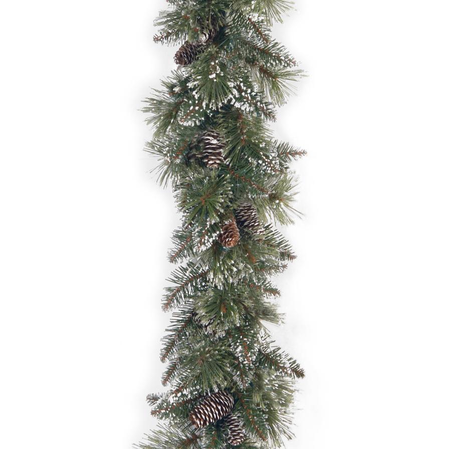 National Tree Company 6 ft. Glittery Bristle Pine Garland