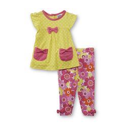 Baby Togs Infant Girl's Top & Capri Pants - Polka Dot & Floral at Kmart.com