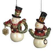 """4.25"""" Resin Snowman Ornament Set of 2 at Kmart.com"""