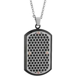 Stainless Steel Dog Tag Pendant With Multi Color IP Accent at Kmart.com