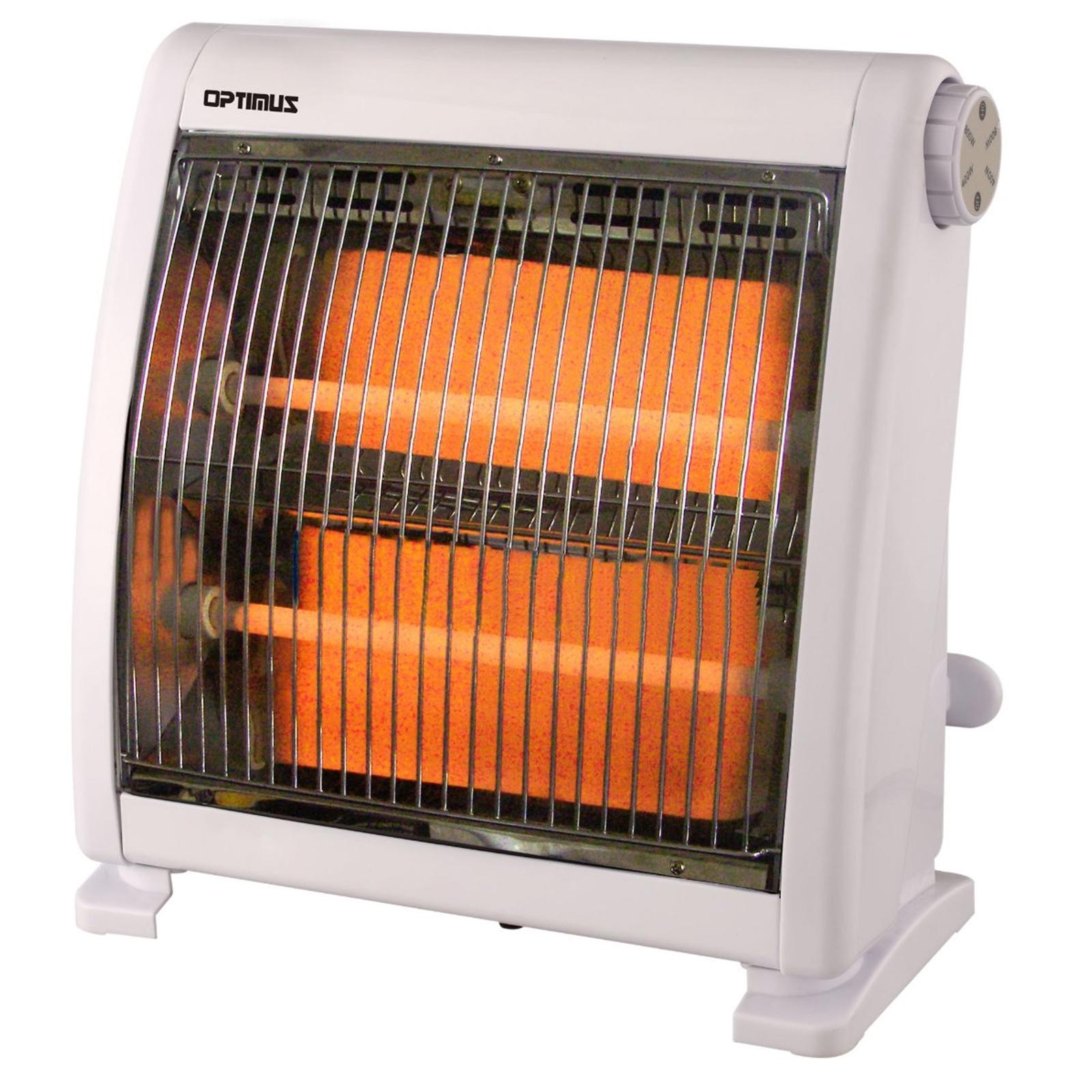 Image of Optimus 97085936M Infrared Quartz Radiant Heater, White