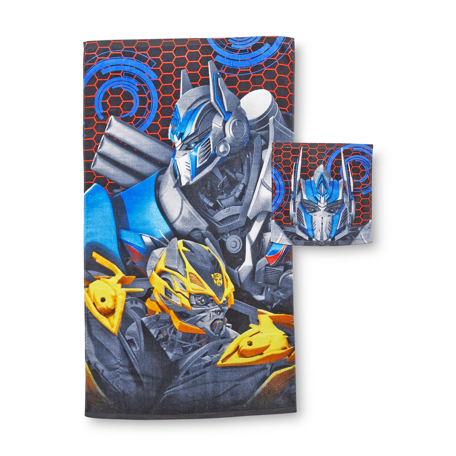 Transformers Transformers 4 Boy's Bath Towel & Washcloth