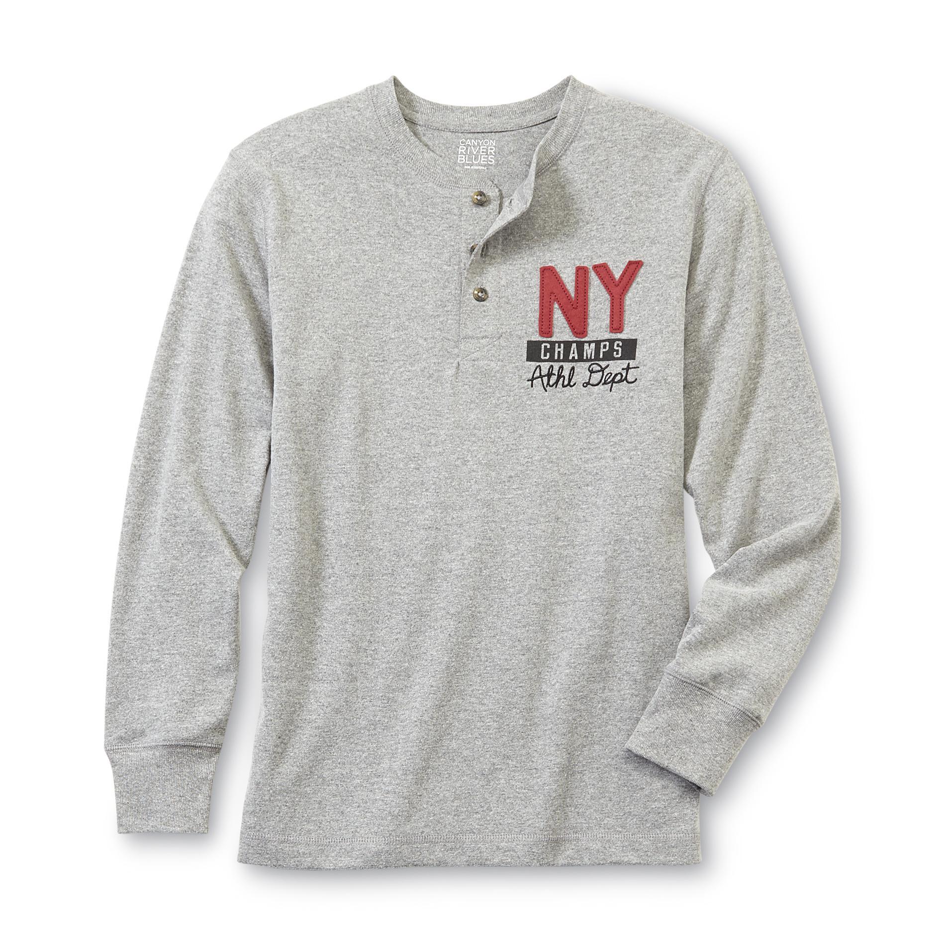 Canyon River Blues Boy's Henley Shirt - NY Champs
