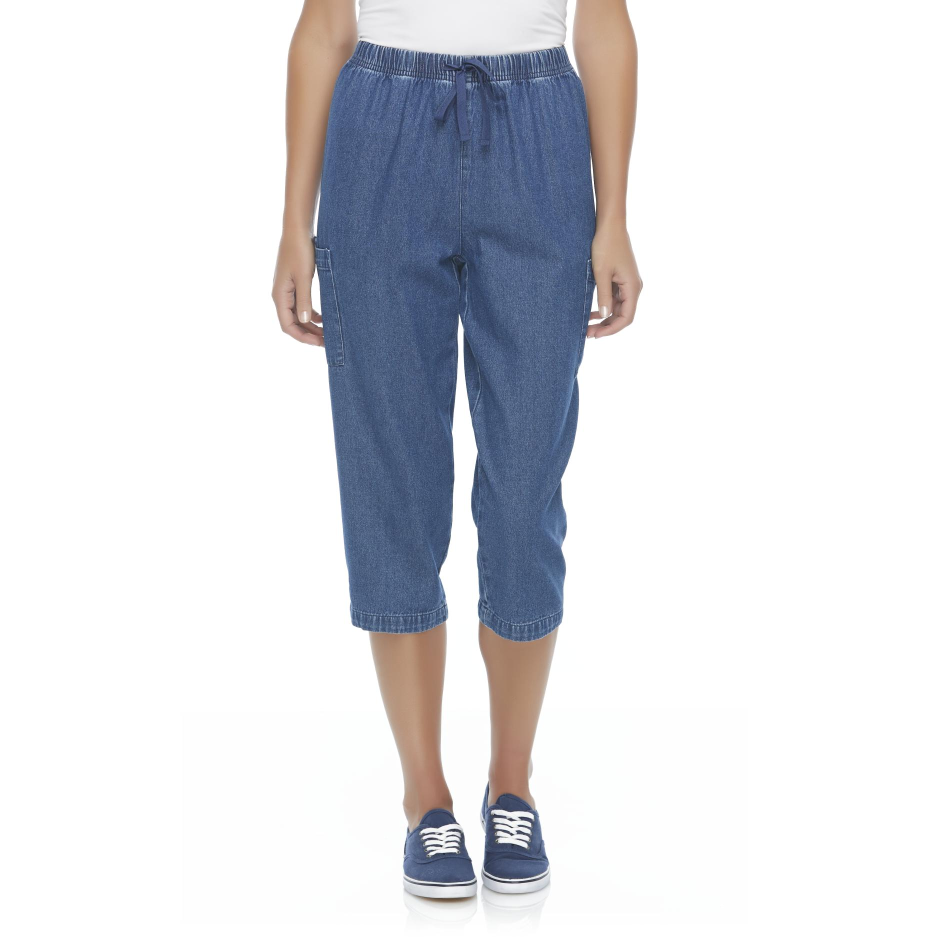 Basic Editions Women's Denim Capri Pants at Kmart.com