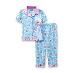 Disney Baby Frozen Toddler Girl's Pajama Top & Pants - Elsa at Kmart.com