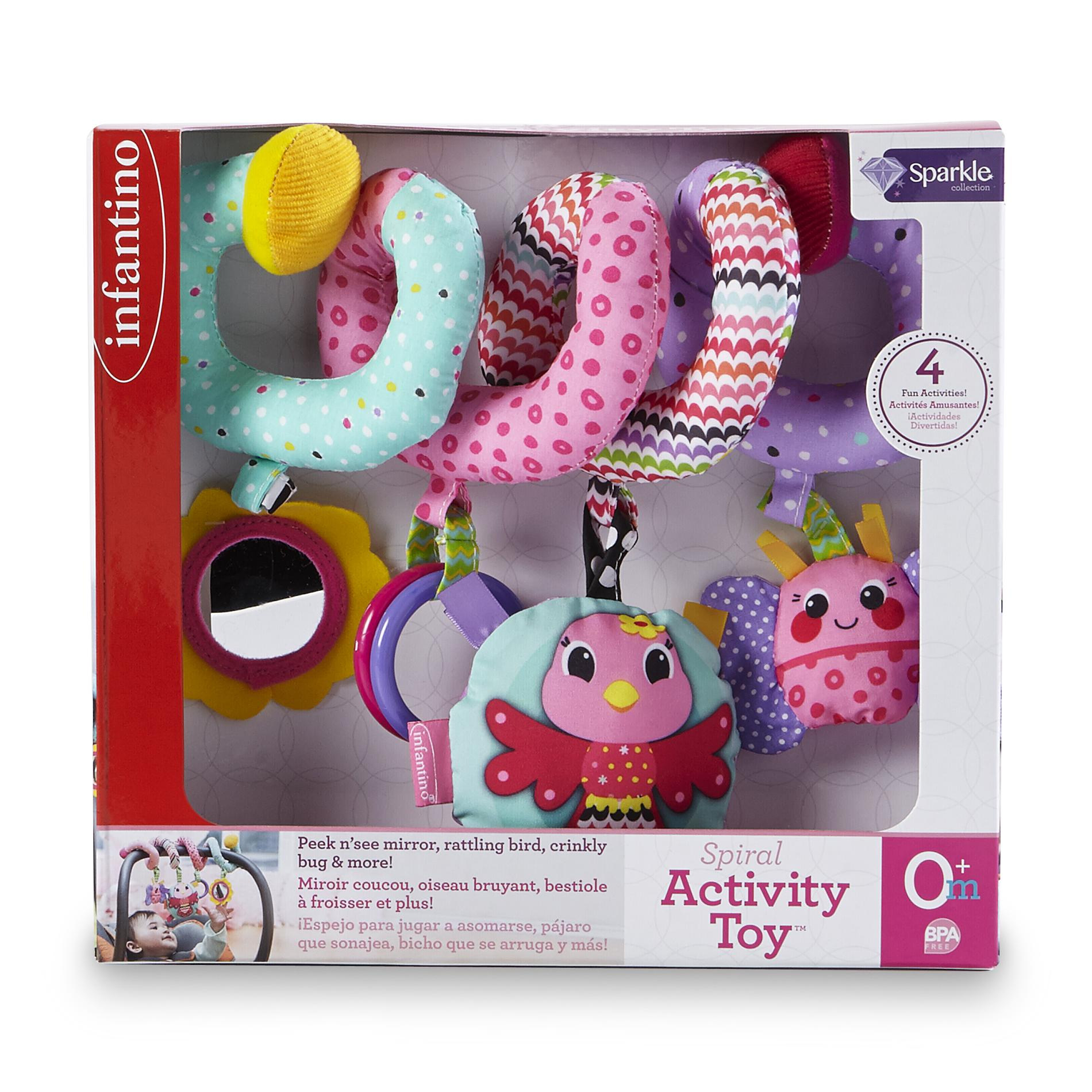 Infantino Infant Girl's Sparkle Collection Spiral Activity Toy