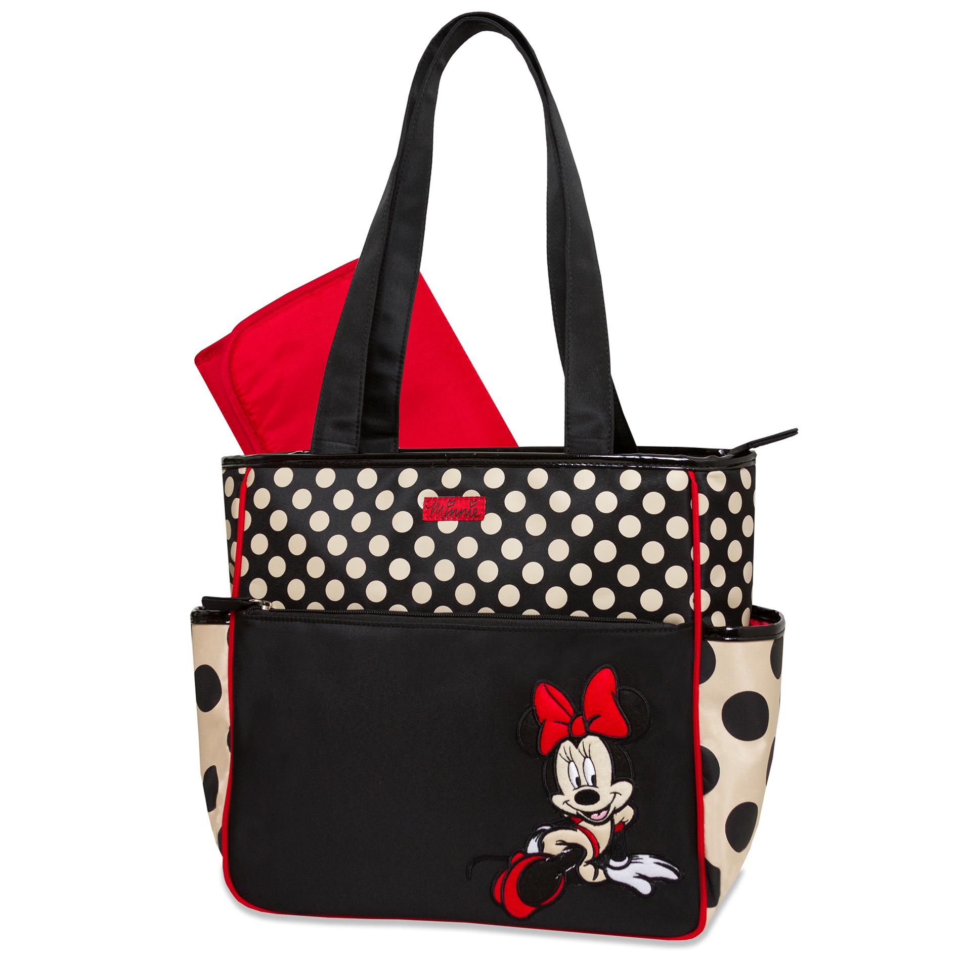 Disney Minnie Mouse Diaper Bag & Changing Pad - Polka Dot,  Multi-Colored
