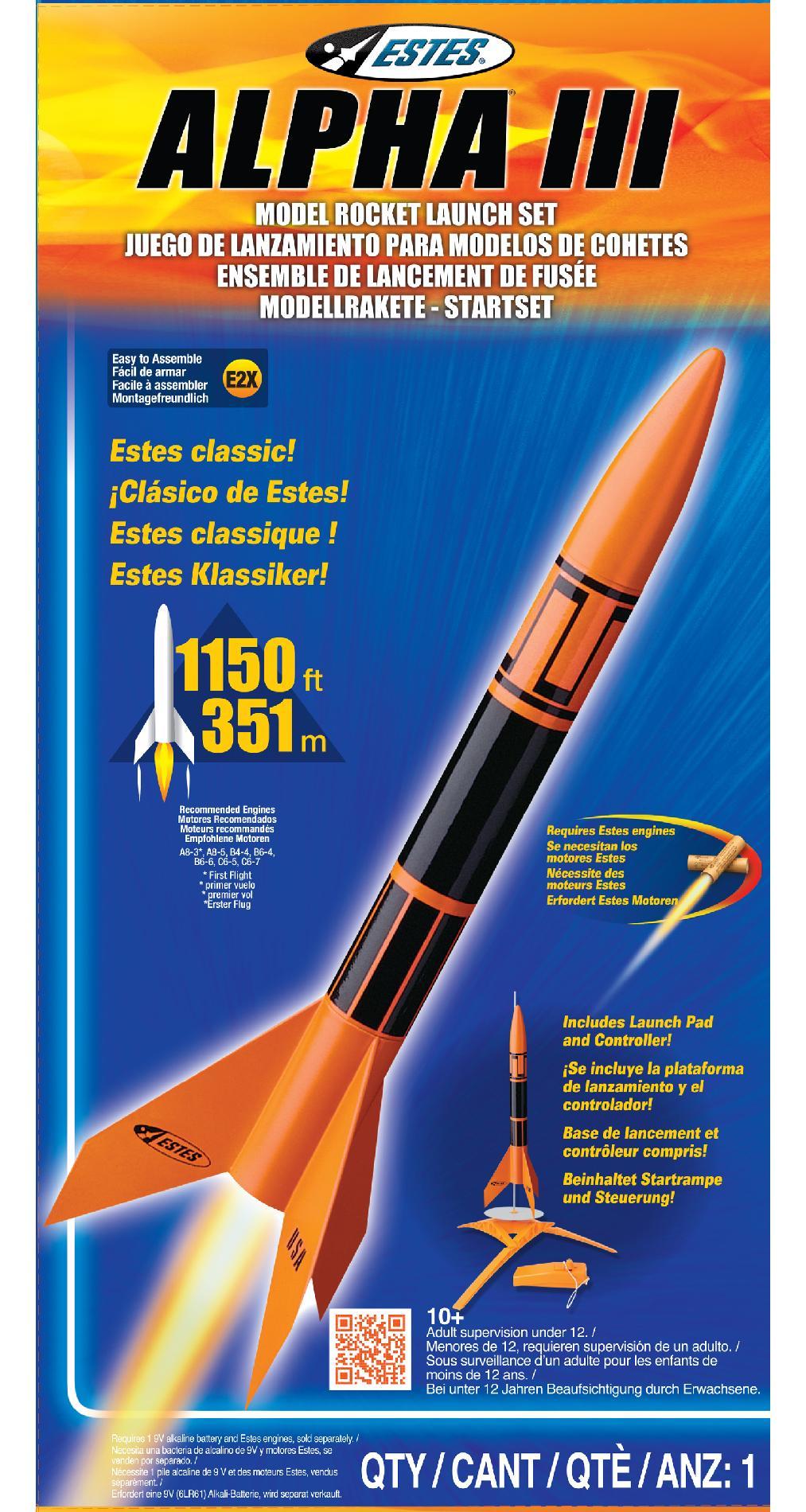 Estes Estes Alpha III Model Rocket Launch Set