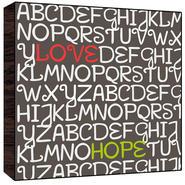 Green Leaf Art Love, Hope wood Art at Kmart.com