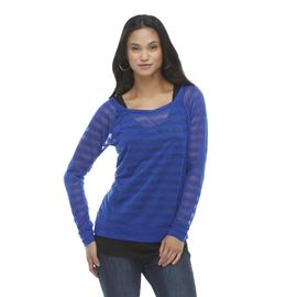 Mascara Women's Long-Sleeve Top & Tank Top - Striped at Sears.com