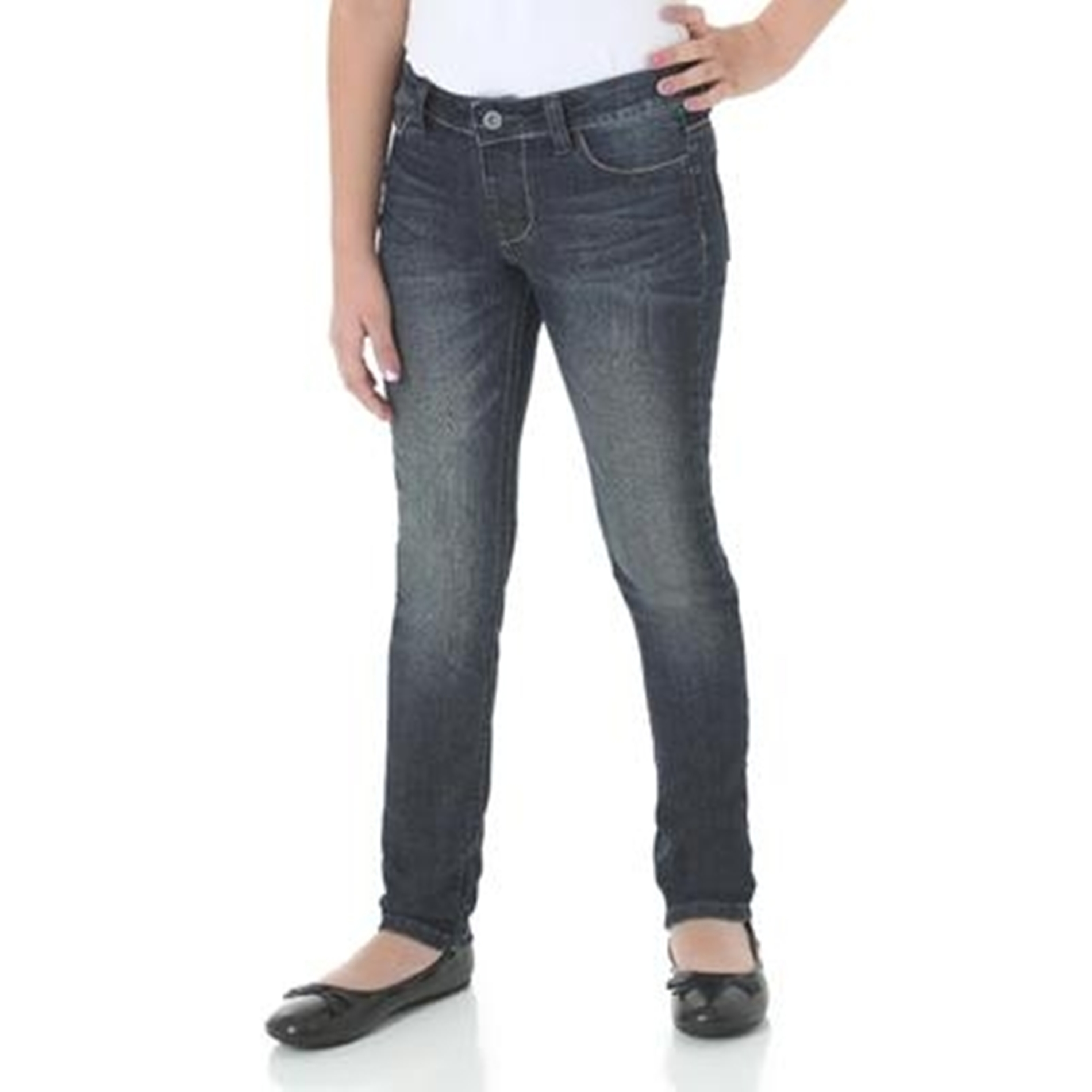 Wrangler Girl Five-Pocket Skinny Jeans at Kmart.com