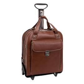 Siamod PASTENELLO 45314 Cognac Leather Vertical Detachable-Wheeled Laptop Case at Kmart.com